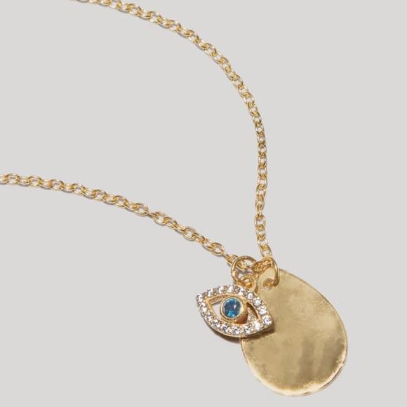 Argento Vivo Evil Eye Charm Cluster Necklace